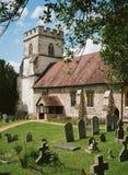 Wioska kościół w Anglia Zdjęcia Royalty Free
