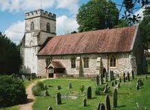 Wioska kościół w Anglia fotografia stock