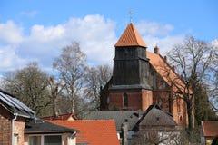 Wioska kościół W Reinberg obrazy royalty free
