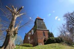 Wioska kościół W Reinberg fotografia royalty free
