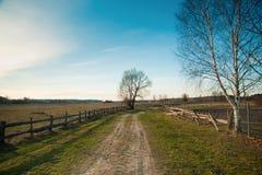 Wioska krajobraz Zdjęcia Stock