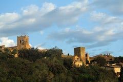 Wioska kumpel, Girona, Hiszpania zdjęcie stock
