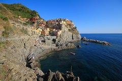 Wioska Manarola, Cinque Terre Fotografia Royalty Free