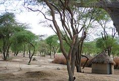 Wioska masy na Tarangiri safari - Ngorongoro w Afric Zdjęcie Stock
