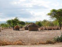 Wioska masy na Tarangiri safari - Ngorongoro w Afric Zdjęcia Stock