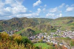 Wioska Mayschoss blisko Złego Neuenahr, Niemcy Fotografia Royalty Free