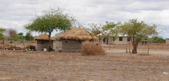 Wioska msza w Tanzania fotografia royalty free
