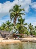 Wioska na plaży w Madagascar Fotografia Stock
