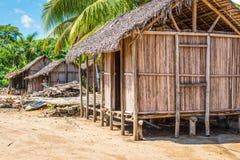 Wioska na plaży w Madagascar Fotografia Royalty Free