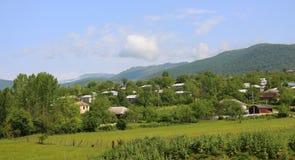 Wioska na pogórzach w Azerbejdżan obrazy stock