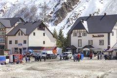 Wioska narciarki na haliźnie Azau Obraz Royalty Free