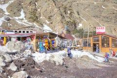 Wioska narciarki na haliźnie Azau Zdjęcie Stock