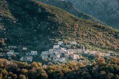 Wioska Nessa w Balagne regionie Corsica zdjęcie royalty free