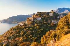 Wioska Nonza Corsica zdjęcia stock