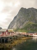 Wioska Norwegia Fotografia Royalty Free