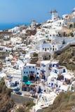 Wioska Oia Cyclades wyspa Zdjęcia Royalty Free