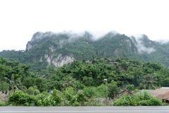 Wioska otacza mgłą Obraz Stock