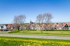 Wioska Oudeschild na Texel wyspie w holandiach Zdjęcie Royalty Free