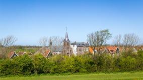 Wioska Oudeschild na Texel wyspie w holandiach Fotografia Stock