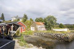 Wioska północny Norway Obrazy Royalty Free