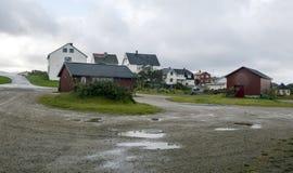 Wioska północny Norway Zdjęcia Royalty Free