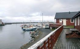 Wioska północny Norway Zdjęcie Stock