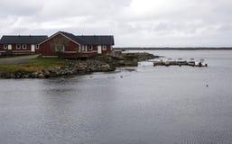 Wioska północny Norway Zdjęcia Stock