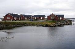 Wioska północny Norway Obrazy Stock