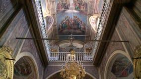 Wioska Palekh w Ivanovo regionie kościół egzaltacja Święty krzyż royalty ilustracja
