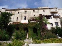 Wioska południe Francja, Borme les mimosas Zdjęcie Stock