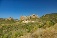 Wioska pod Aguero górami, szeroki kąt Zdjęcia Royalty Free