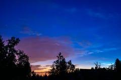 Wioska przy nocą Zdjęcia Stock