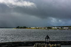 Wioska przy Valentia wyspą w Irlandia Zdjęcia Stock