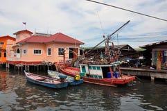 Wioska rybacka. Zdjęcie Stock