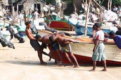 Wioska rybacka blisko Galle, Sri Lanka Zdjęcia Stock