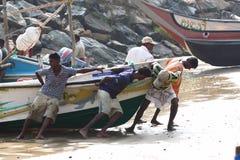 Wioska rybacka blisko Galle, Sri Lanka Fotografia Royalty Free