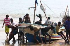 Wioska rybacka blisko Galle, Sri Lanka Zdjęcie Stock