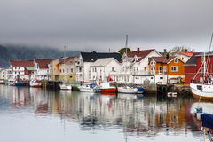 Wioska rybacka Henningsvaer wewnątrz lofoten, Norway Zdjęcia Stock