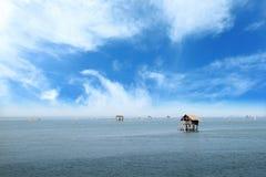 Wioska rybacka i niebo Obraz Royalty Free