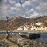 Wioska rybacka Molle w Szwecja zdjęcia royalty free