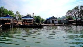 Wioska rybacka na wodzie, Chaung Tha, Myanmar zdjęcie wideo