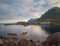 Wioska Rybacka Tind w Lofoten Zdjęcie Royalty Free