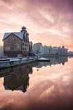 Wioska rybacka w Kaliningrad, Rosja Fotografia Stock