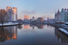 Wioska rybacka w Kaliningrad, Rosja Zdjęcie Stock