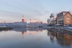 Wioska rybacka w Kaliningrad, Rosja Fotografia Royalty Free