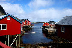Wioska rybacka w Lofoten wyspach, Norwegia Zdjęcia Royalty Free
