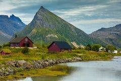 Wioska rybacka w Norwegia obraz royalty free