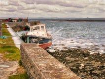 Wioska rybacka w okręgu administracyjnym Clare, Irlandia Obrazy Stock