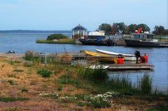 Wioska rybacka w Svartö, w Szwedzkim archipelagu obraz stock