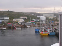 wioska rybaków łódź. obraz stock